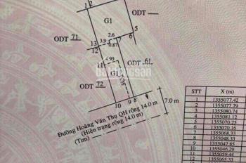 Bán đất MT đường Hoàng Văn Thụ, Vạn Thắng, Nha Trang, DT: 284m2. Hướng Nam, chếch Đông