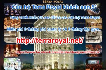 Bán căn hộ Terra Royal khách sạn 5* với 3,8 tỷ, 58m2, 2PN nhận ngay chiết khấu 3%