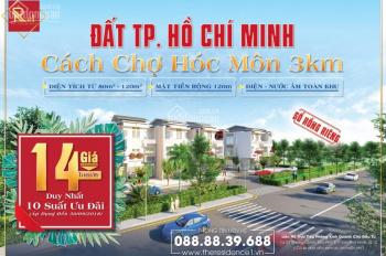 Bán đất mặt tiền cách chợ Hóc Môn 3km, sổ đỏ từng nền, từ 85m2 đến 120m2, giá 1,2 tỷ thương lượng