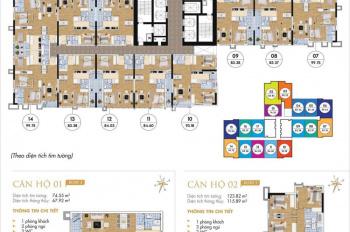 Bán gấp cắt lỗ CC Goldmark City căn 2509-R2 (83.72m2) và 1515-R4 (110m2), 23tr/m2. 0359493456