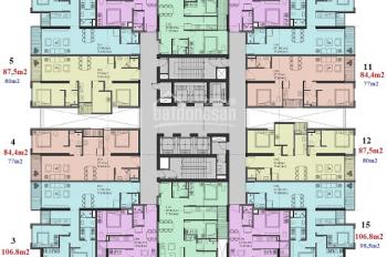 0901798296! Chủ nhà cần bán gấp CC 47 Nguyễn Tuân, tầng 1505 Autum, DT 80m2, 3PN, giá lỗ 2.35 tỷ