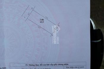 Bán 62.5m2 đất - giá 1.8 tỷ - khu phân lô TDC Lạc Thị - Ngọc Hồi - Thanh Trì - Hà Nội