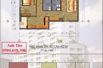 Bán căn góc đẹp, rộng nhất, DT thông thủy 93m2, 3 PN 2VS chung cư Hanhud ngõ 234 Hoàng Quốc Việt