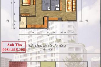 Bán căn góc đẹp CC Hanhud 93m2, 3PN 2VS 2 logia cửa Đông, logia Nam và Tây đủ đồ cao cấp ở ngay