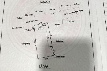 Bán nhà 1 trệt, 1 lầu hẻm xe hơi 502/37 Huỳnh Tấn Phát, Quận 7, hẻm an ninh, sạch sẽ