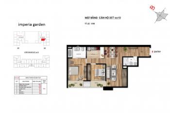 Chính chủ bán gấp căn 2 phòng ngủ, 78m2 Imperia Garden, giá 2.5 tỷ, LH: 0865331851