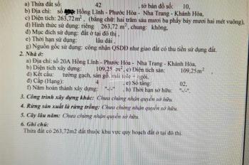Bán nhà mặt tiền Hồng Lĩnh, Nha Trang, ngang 10,3m, 0973975623