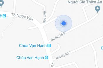 Cần bán gấp căn nhà 136m2 hẻm 526 Tô Ngọc Vân, Tam Phú