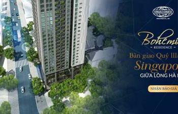 Chỉ 3,2 tỷ sở hữu căn góc 3PN, 135m2 trung tâm Q. Thanh Xuân Bohemia Residence HTLS 0% - CK 10,5%