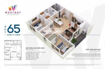 Cần bán căn hộ West Bay - Ecopark DT 65m2, giá 1.52 tỷ. LH 0973.763.185