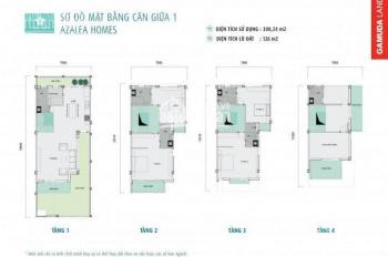 Biệt thự song lập cuối cùng tại Gamuda Garden- Azalea Homes, 126m2 x 4 tầng. Liên hệ 0944013333