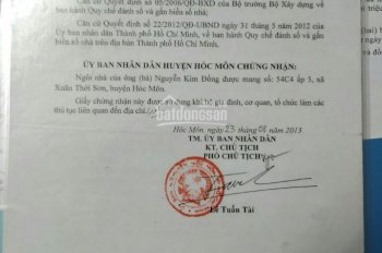 Bán nhà đã có số nhà huyện 4*13m, Xuân Thới Sơn, Hóc Môn, giá 700 tr. LH 0898425168