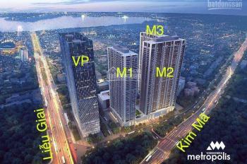 Chính chủ bán căn hộ 1 ngủ M2-3809 Vinhomes Liễu Giai DT 55.87m2 view hồ Tây. Giá 4.25 tỷ bao tên