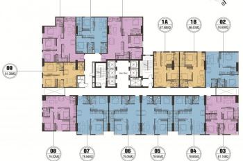 Chính chủ bán gấp CC FLC Quang Trung, DT: 61,39m2 và 76m2 tầng 15, giá 18.5tr/m2, 0981 917 883