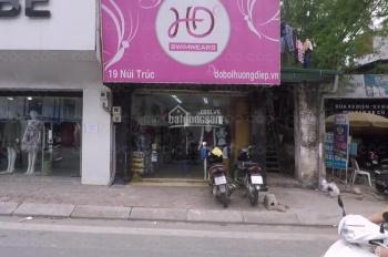 Tôi cho thuê cửa hàng mặt phố  Núi trúc dt 50m2, mt 3,5m, giá 22 tr/th