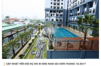 Bán căn hộ OT M-One Quận 7, diện tích 35m2, view thoáng, full NT, giá : 1.4 tỷ. LH: 0935299000