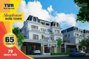 Bán liền kề shop house 79 Ngọc Hồi, Hoàng Mai, LH 0988122161