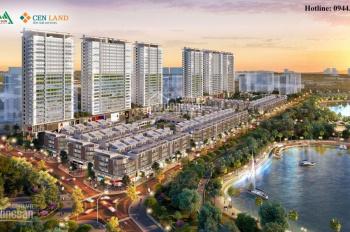 Bán 2 lô shophouse cuối cùng view hồ điều hòa, dự án Khai Sơn City Long Biên, LH: 0944111223