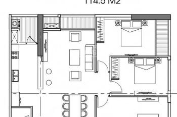 Bán lại căn 3 phòng ngủ 122m2, đầy đủ nội thất, view bể bơi tại Park 12 - P122704. LH 0966696780