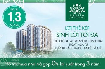 Chính chủ kẹt tiền cần bán căn hộ Lavita Charm C14 tầng cao, view Xa Lộ Hà Nội và Phạm Văn Đồng
