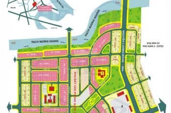 Hot! Bán gấp lô đất nhà phố góc 2MT KDC Cotec dãy A1 DT 111m2 giá 36tr/m2, LH Mr Huy 0934179811