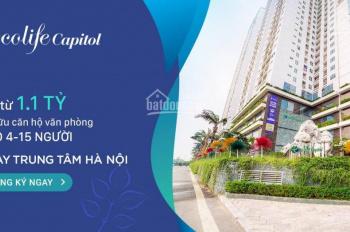 Bán căn hộ officetel Ecolife Tố Hữu, đầu tư chỉ từ 1 tỷ, cho thuê 10tr/tháng. Lh 0857 533 698