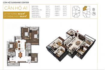Căn hộ thông minh Sunshine Center 16 Phạm Hùng, DT 167,8m2 trực tiếp CĐT: 0961348638