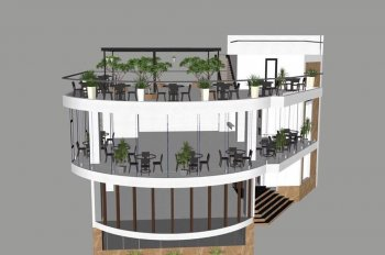 Cho thuê nhà 3 tầng 2 mặt tiền Hùng Vương và Tôn Thất Thuyết, vị trí trung tâm