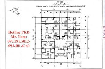 Bán căn hộ tại dự án chung cư Bộ Quốc Phòng C13 và C14 tại Định Công. Hotline PKD CĐT: 0973915012