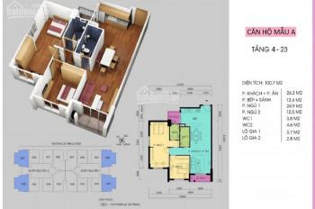Cần bán gấp CHCC Handi Resco 31 Lê Văn Lương căn góc 98,4m2 đã có sổ đỏ, giá 31.5tr/th