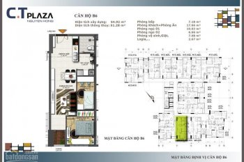 Bán gấp căn hộ 77m2, 2 phòng ngủ, view cực đẹp, C. T Plaza Nguyên Hồng, trung tâm 4 quận