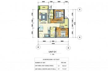 Celadon City bán 2PN, 2WC, 71m2, 2.95 tỷ khu Emerald, Celadon, view CV nội khu, trả góp đến Q1/2020