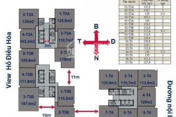 Chính chủ bán gấp CHCC Horizon Tower, 1504-T3A: 103,3m2 và 1605-T4: 130m2, giá 28tr/m2. 0359493456