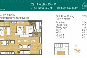 Tổng hợp các căn bán lại hot nhất dự án Hoàng Cầu Skyline 69m2, 83m2, 92m2, 97.5m2