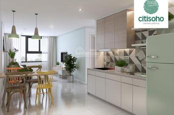 Cần bán gấp căn hộ Citi Soho, 59m2, 2PN 2WC, sổ hồng vĩnh viễn, giá rẻ đầu tư. LH 0938889665