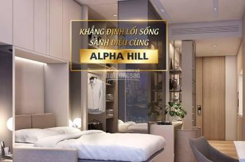 Bán CH siêu sang Alpha Hill, biểu tượng mới của TP, dự án cao tầng cuối cùng của CBD TP, 0967777545