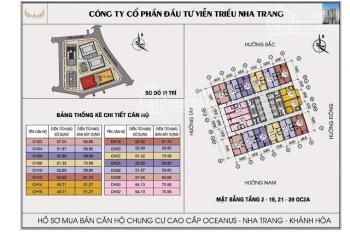 Bán căn hộ 08 OC2B Mường Thanh Viễn Triều view xéo biển 70.56m2, 1.4 tỷ. LH: 0986865312