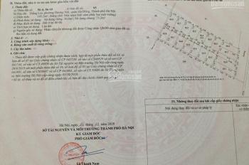 Bán đất dịch vụ (SĐCC) Dương Nội, Hà Đông, DT 30m2, MT 4,5m. Giá 1,16 tỷ, LH 0968142196