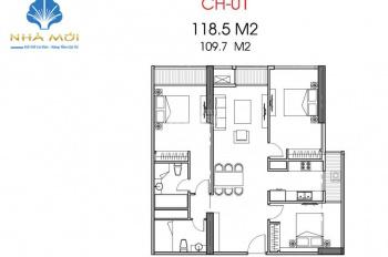 Bán rất gấp căn 118.5m2 - 3PN sáng - Park Hill Premium - 4.7 tỷ - Có đồ. LH: 0901793288