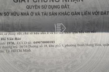 Nhà hẻm xe hơi 46, đường số 18, Bình Hưng Hòa, Bình Tân