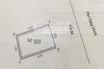 Cần bán nhà mặt phố Hàng Muối, DT 20m2, xây 5 tầng, LH: 0913851111