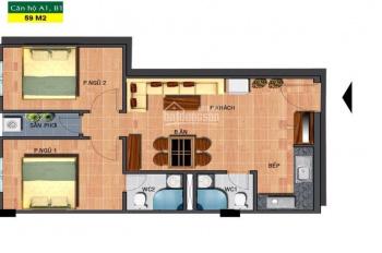 Bán căn hộ Sài Gòn Town, DT 59m2, 2PN/2WC, giá 1.320tỷ, bao 5% ra sổ
