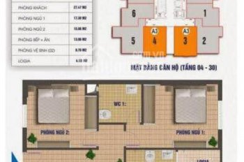 Bán căn hộ 2103 chung cư Nam Xa La diện tích sổ 81,6m2, giá bán 13tr/m2