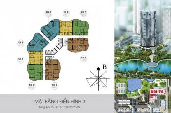 Bán chung cư Ngoại Giao Đoàn, tòa N01T8 tầng 07, diện tích: 121m2
