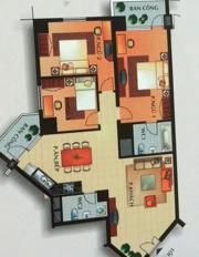 Bán căn hộ An Cư khu APAK Quận 2, lầu thấp, 2 phòng ngủ, 2WC, có nội thất, 128m2, giá 3,9 tỷ TL