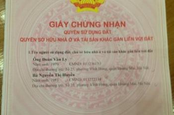 Chính chủ bán nhà 5 tầng giá 2.080 tỷ SN 2 ngõ 126 phố Vĩnh Hưng, Phường Vĩnh Hưng, quận Hoàng Mai