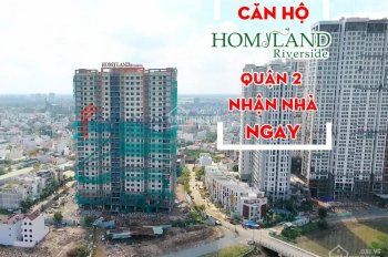 Căn hộ CC Homyland Riverside ở TT Quận 2, 75m2, sắp nhận nhà, nội thất cao cấp, giá chỉ 2.5 tỷ