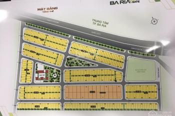 Bán đất nền TT hành chính Bà Rịa, giá 14tr/m2, mặt tiền đường lớn 40m, sổ đỏ từng nền