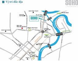 Bán căn hộ Soho RiverView Quận Bình Thạnh, DT: 60m2, 02 phòng ngủ, giá: 2,3 tỷ