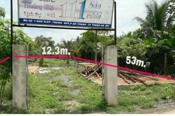 Bán đất mặt tiền đường Hưng Định 10, DT: 12 x 53m, thổ cư 160m2 giá 6.1 tỷ.  Liên hệ chính chủ